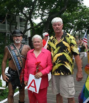 Pride Parade organizers Bruce-Michael Gelbert, Denise Harbin & Paul Jablonski - photo by Joseph R. Saporito