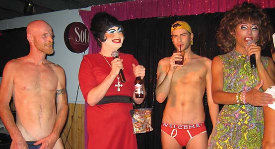 contest- Richard, Shealita Baby, Ben Andrews & Bianca Del Rio - photo by Bruce-Michael Gelbert