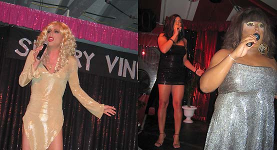 Sherry Vine, Spickie Hilton & Jackie Dupree - photo by Bruce-Michael Gelbert