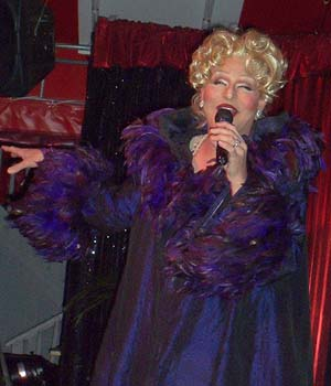 Electra as Bette Midler - photo by Bruce-Michael Gelbert